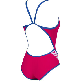 arena Team Stripe Super Fly Back One Piece Swimsuit Women freak rose/royal